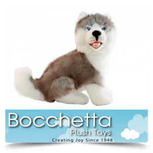Husky Soft Plush Dog Button Bocchetta