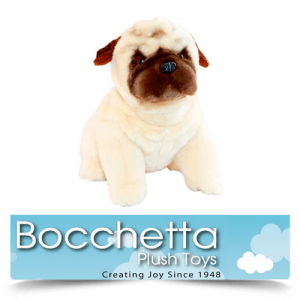 Pug Soft Plush Dog Carlotta Bocchetta