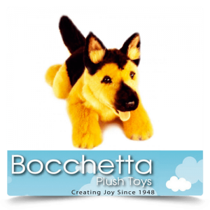 German Shepherd Soft Plush Dog Chief Bocchetta