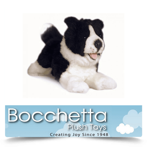Border Collie Soft Plush Dog Patch Bocchetta