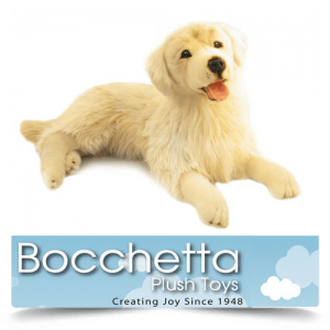 Golden Retriever Soft Plush Dog Spencer Bocchetta