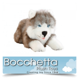 Husky Soft Plush Dog Marbles Bocchetta