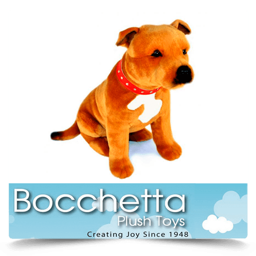 Staffy Soft Plush Dog Lester Bocchetta