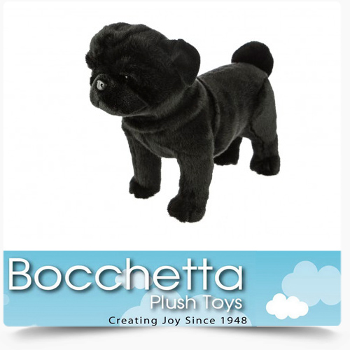 Pug Soft Plush Dog Midnight Bocchetta