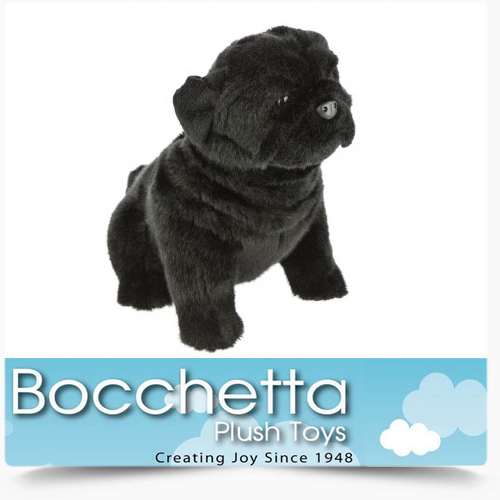 Pug Soft Plush Dog Oreo Bocchetta