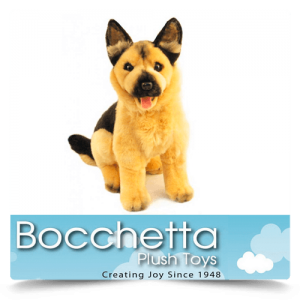 German Shepherd Soft Plush Dog Sargeant Bocchetta