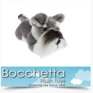 Schnauzer Soft Plush Dog Scoobie Bocchetta