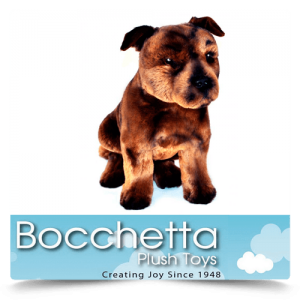 Staffy Soft Plush Dog Scooter Bocchetta