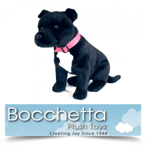 Staffy Soft Plush Dog DJ Bocchetta