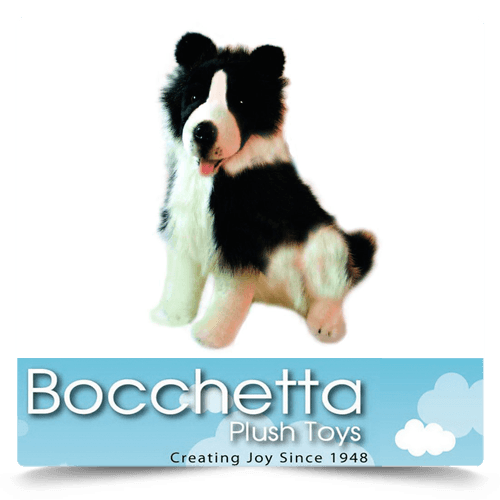 Border Collie Soft Plush Dog Tommy Bocchetta