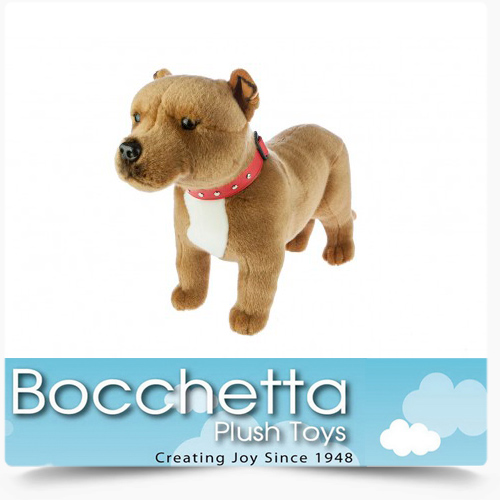 Staffy Soft Plush Dog Winston Bocchetta