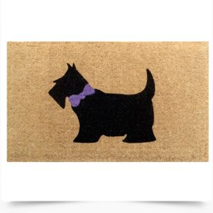 Black Scotty Dog Doormat