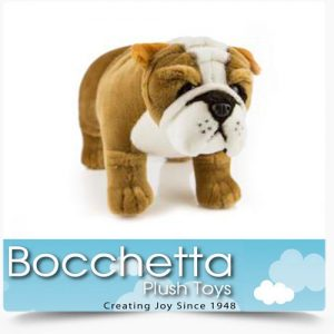 Bulldog Soft Plush Dog Baxter Bocchetta
