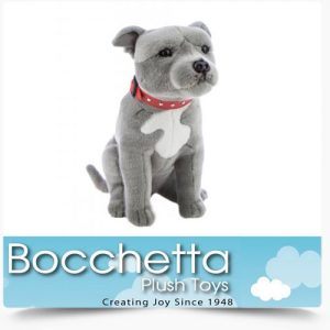 Staffy Soft Plush Dog Storm Bocchetta