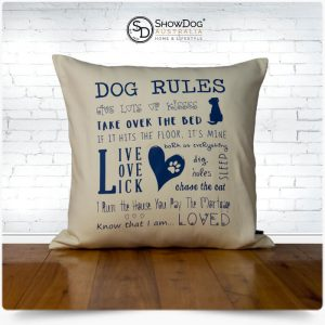 Dog Themed Cushion Dog Rules Dog Cushion