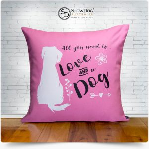 Dog Themed Cushion Love And A Dog Dog Cushion