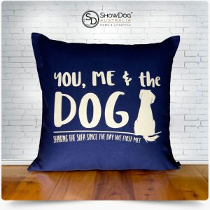 Dog Themed Cushion You Me The Dog Sharing The Sofa Dog Cushion