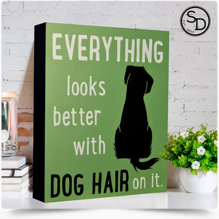 Everything Looks Better With Dog Hair Dog Sign