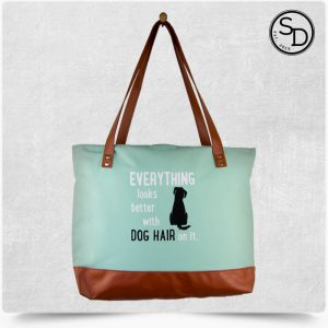 Everything Looks Better With Dog Hair Tote Bag 1