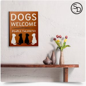 People-Tolerated-Decorative-Wooden-Dog-Sign-1
