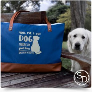 Sharing Good Times Dog Tote Bag